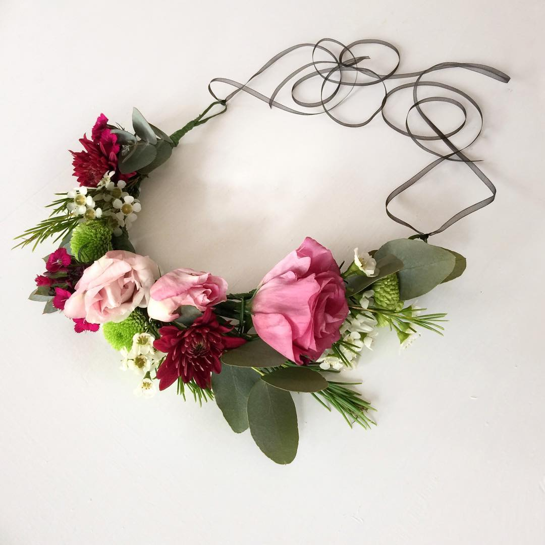 A flower crown made for a bachelorette on Saturday night ??
