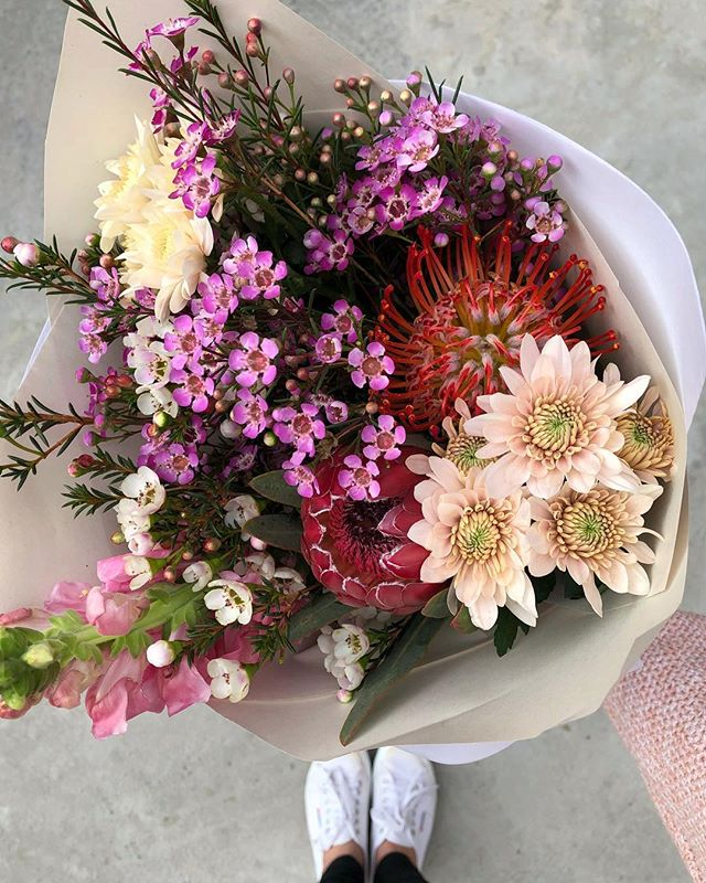 Today's Posy is pin cushion proteas, wax, sprays and snapdragons. Order online before 12:30pm for delivery this afternoon. . . . . #Petalandpost#capetown#capetownflorist#florist#flowers#blooms#dailyblooms#posy#instadaily#flowerstagram#flowersofinstagram#southafrica#lovezabuyza#localzadesign#lovelocalza#hellopretty#capetownmag#cylcollective #capetownlikes#flowercrown#supportlocal#protea#flowercrown#crown#posylove#hair#wedding#photoshoot#local#botanical#theprettyblog
