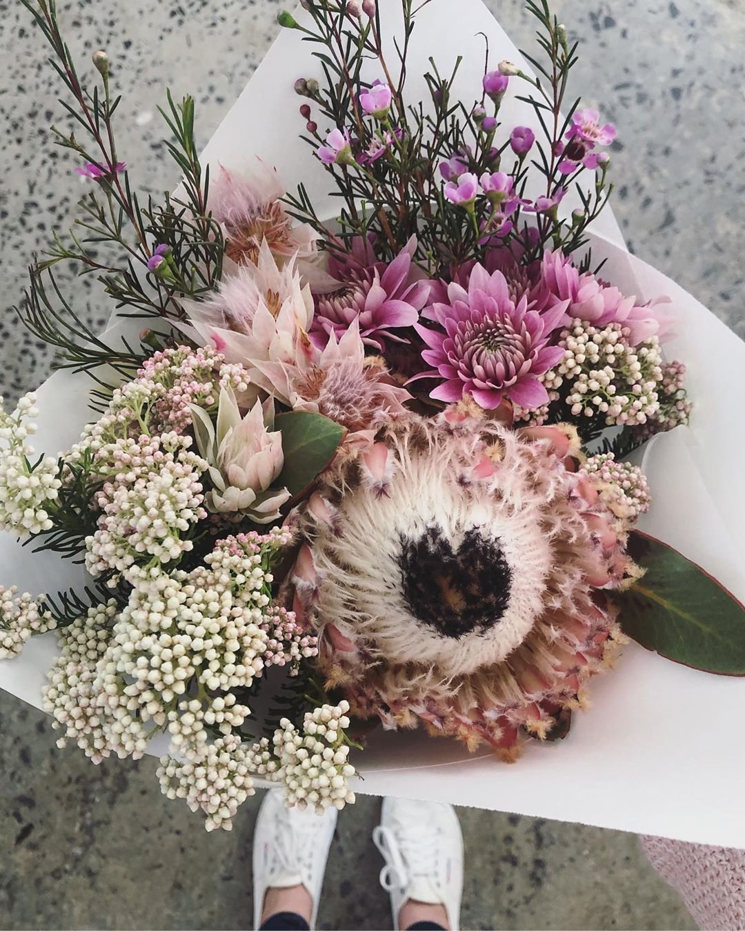 🇿🇦 We celebrate our country's beautiful heritage with the Protea Magnifica, also known as The Queen Protea. Monday's Posy is magnifica protea with delicate blushing brides, rice flowers, wax and chrysanthemums. Order online before 1pm for delivery today . . . . #Petalandpost#capetown#capetownflorist#lovezabuyza#localzadesign#lovelocalza#hellopretty#capetownmag#cylcollective #capetownlikes#supportlocal#posylove#wedding#local#botanical#theprettyblog#gardenday#capetowninfo#handmadeincapetown#madeinsouthafrica#lokalza#durbanville#proudlysouthafrican